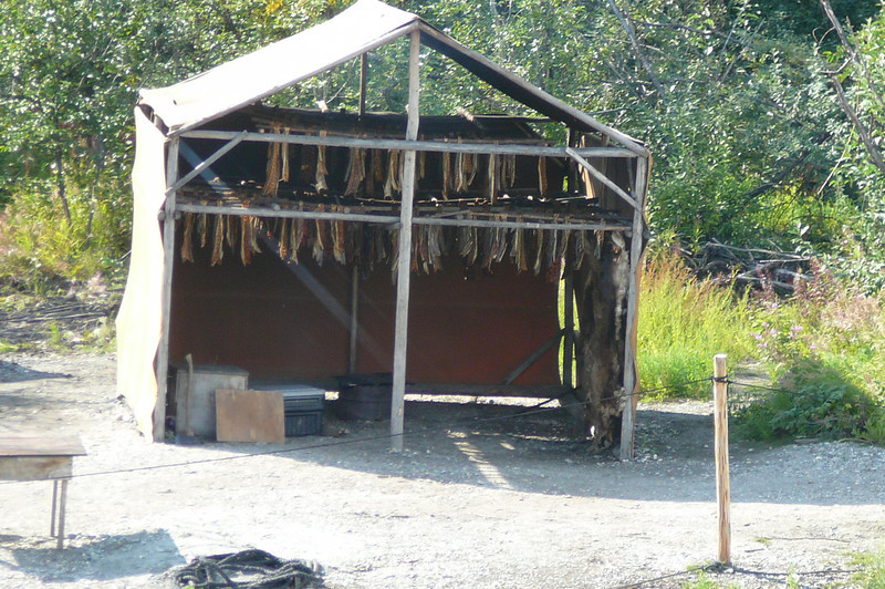 "The best part of our Riverboat Cruise was our stop at the Chena Indian Village... we learned a lot about some of Alaska's Natives. Here's a shot of one of their ""Smokehouses""."