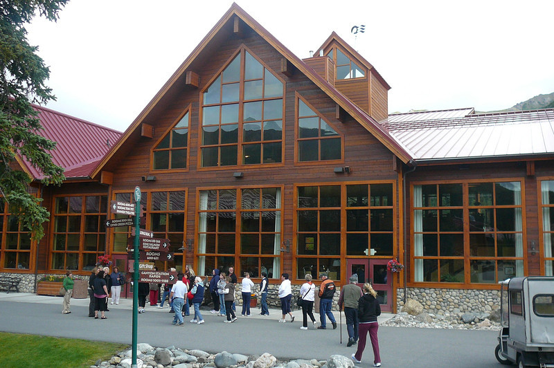 """A shot of the Main building/activity area at the Denali Lodge. This lodge is only minutes from the Denali Park entrance where you'll be going to experience either the """"Tundra Wilderness"""" or """"Natural History"""" tours.  Our advice, make sure the """"Tundra"""" is included with your Tour!!"""