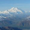 Wow... after about 20 min of flight time there she was... Mount McKinley!! We were so blessed to see her in all her glory as she only comes out from behind the clouds around 20% of the time!!
