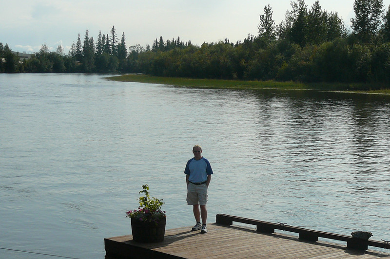 There's Shawn taking in the Beautiful scenery as we enjoy our 1st day in Alaska. If you start your tour in Fairbanks make sure to get an early flight in, or add an extra day, so you can enjoy some extra time as we did and get over the Jet lag.