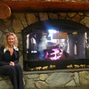 "Nancy enjoying the Fireplace in McKinley's ""Great Room""!"