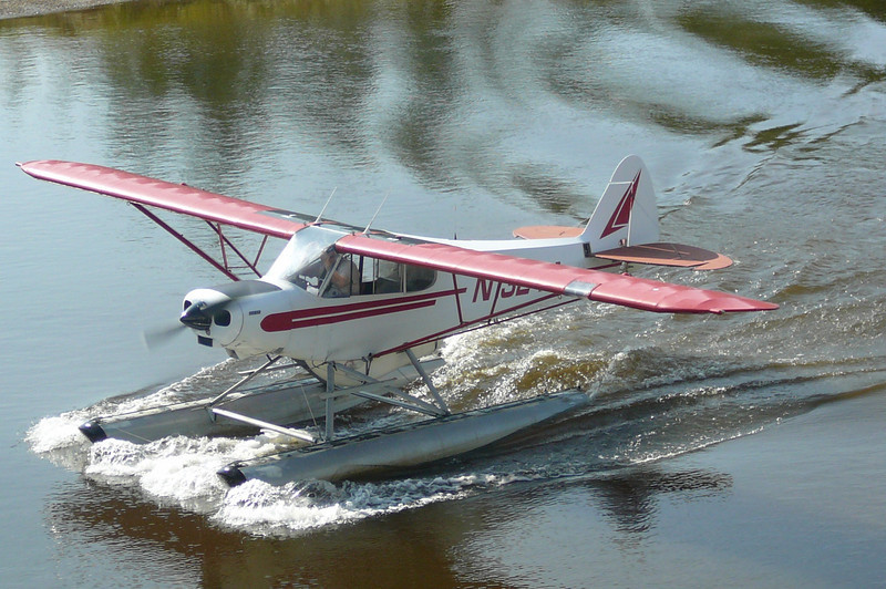 "One of the highlights of the Riverboat Cruise is the ""Bush Pilot"" take off/landing demo!! These types of planes play a huge part getting supplies to Alaska's many remote areas."