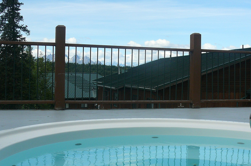 Check out the Amazing view you'll have when enjoying the Hot Tubs at Princess' Mt. McKinley Lodge!!