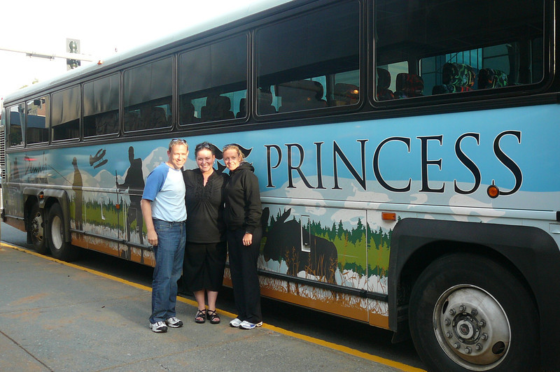 "After leaving Mt. McKinley Lodge we took our Motorcoach down to Anchorage for our final night. Here we say goodbye to our Tour Director, Jenny Norton, after a great whirlwind Tour of the ""Heart of Alaska""... she was awesome!!"