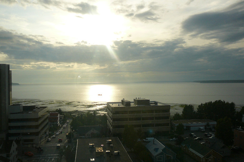 "Check out the amazing view we had from our room in the ""Captain Cook Hotel"" in downtown Anchorage."