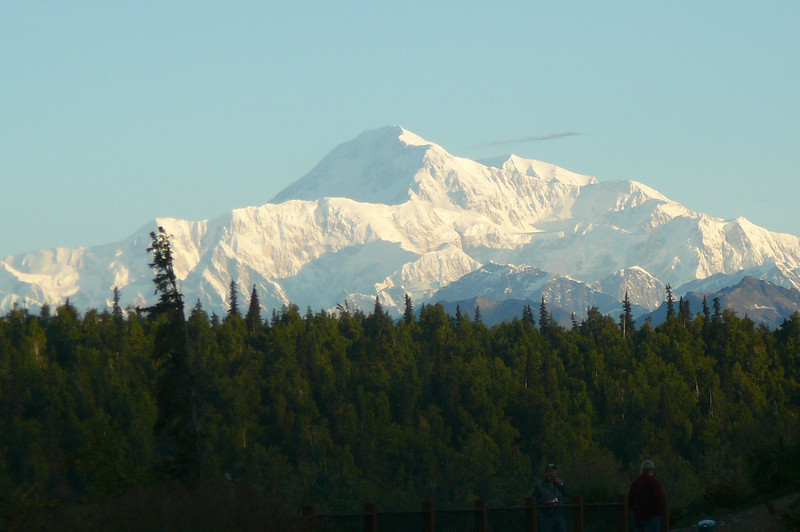 Mt. McKinley!! Can you imagine how excited we were when we came out of our room the next Morning and this is what we saw!! :-)