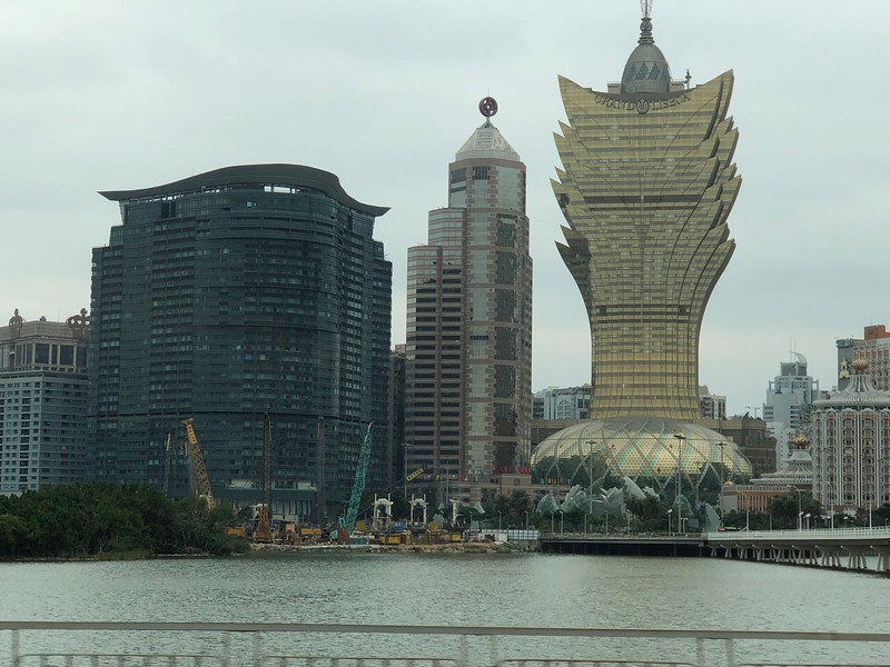 """After 5 days in Hong Kong we headed to Macau for 2 days… they call it the """"Vegas of Asia"""" due to the 40+ Casinos they have there such as the unique looking """"Grand Lisboa"""" in the above pic."""