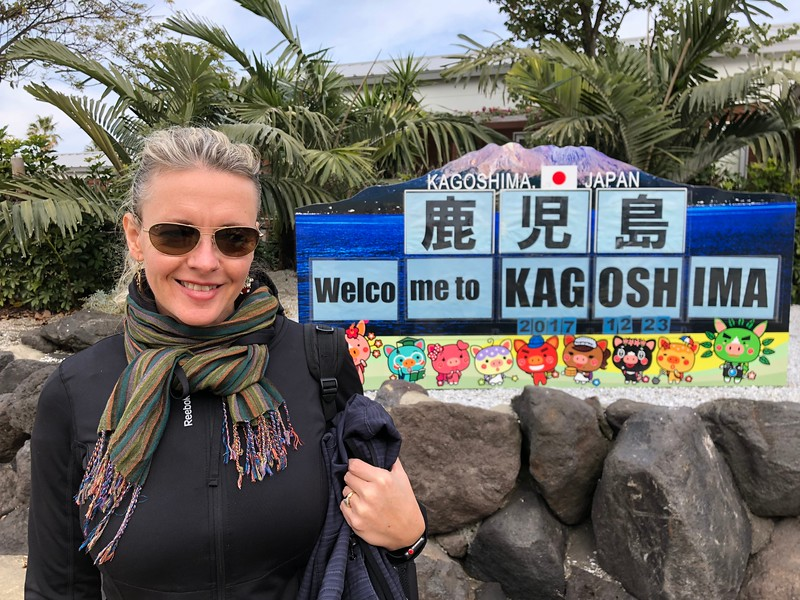 """Our next stop was in """"Kagoshima, Japan""""… as it was our 1st time visiting this intriguing Country we were excited to check it out for sure!"""