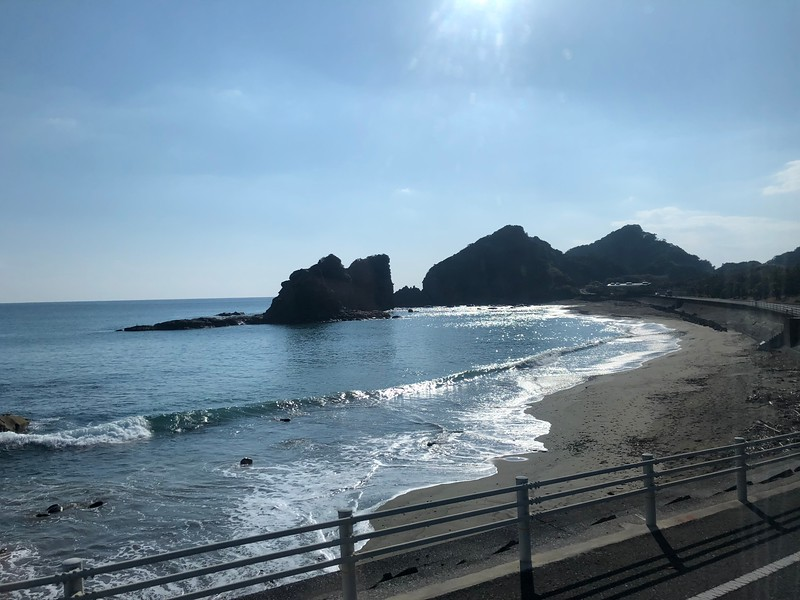 """Our next stop was in """"Miyazaki, Japan""""… we enjoyed a coach ride along the Beautiful Coast there…"""