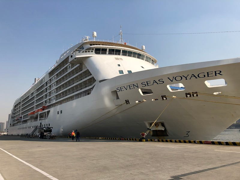 "There's a shot of Regent's ""Seven Seas Voyager"" ship… our ""Home"" for 12 nights during our Hong Kong to Beijing ""China & Japan"" Cruise. <br /> <br /> If you're the type of person who loves a hassle-free Vacation, make sure you call Voyager (or any Regent ship) your ""Home"" for a week or two or more as you'll love how they include everything in one upfront price… no surprises when onboard. We literally got off the ship after 12 nights with a $0 bill… unless you do some shopping onboard or go to the Spa or Casino you'll enjoy having a $0 bill after your Vacation as well!<br /> <br /> Check out this link <a href=""https://www.rssc.com/experience/all-included"">https://www.rssc.com/experience/all-included</a> to see the breakdown of what's included in your price."