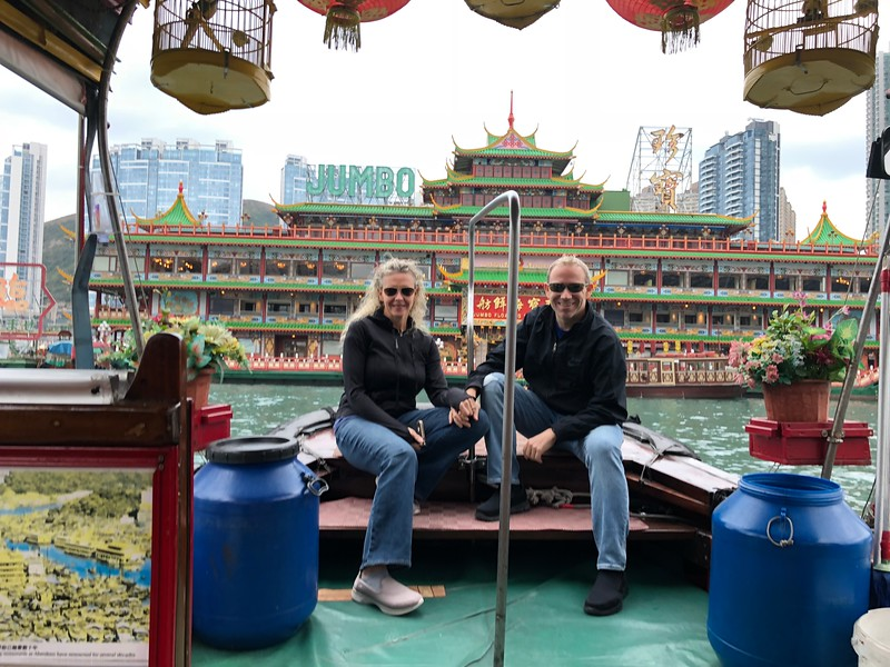 Also, make sure to get down to Sea Level and take a Cruise around Victoria Harbour on either a private Sampan as we did or on the Ferry as the sites from water level are quite impressive as well.