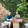 """It was definitely a nice way to end our walking tour in Speyer when Crystal treated us to some """"Bretzels"""" & local pastries that are popular in Speyer... always fun to try some local food when we travel!! :-)"""
