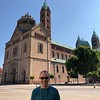 """There's Shawn checking out the """"Speyer Cathedral""""... yep, Europe has a lot of churches but if you've been there you know you can't help checking out the main one in each town as they're truly super impressive structures... they don't build them like that anymore! :-)"""