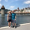 "As we didn't make it here last time we were in the area we were super excited this time to visit ""Lake Lucerne"", Switzerland which we had heard from our clients is a super Beautiful town... and they were right!! :-)<br /> <br /> There we are checking out their famous wooden footbridge!! :-)"