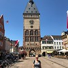 """Alright, let's have a """"peek"""" at some of the Beautiful cities/towns you may visit during a """"Rhine"""" River Cruise.<br /> <br /> There's Nancy checking out the Clock Tower/Old Gate that's the main """"last remains"""" from the medieval city that used to occupy here."""