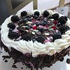 """Fancy cakes like this were available daily at """"Bistro Bach""""! :-)"""