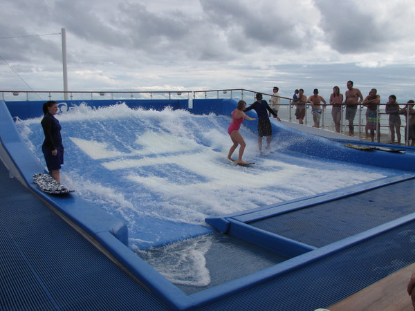 "This picture speaks for itself... surfing on a Cruise Ship!!  Who would have thought you could do so many activities ""at Sea""!"