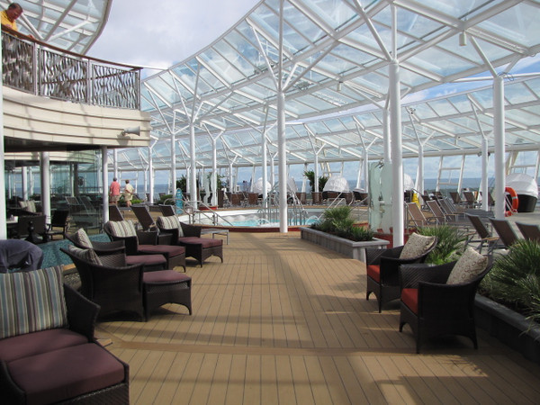 "Surrounded by glass and standing two decks high is ""The Solarium""- a peaceful, Adults Only, place to relax and enjoy the sunshine, enjoy a great book or even take a nap."