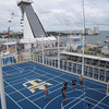 Of course, the largest Cruise Ship in the world has to have the biggest Sports court at Sea too. :-)