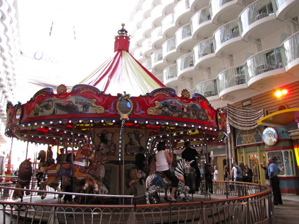 "Yep, a real Carousel at Sea! One of the many amusement attractions to enjoy along ""The Boardwalk""."