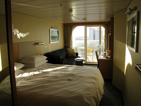 This was our balcony stateroom for the three days we excitedly spent getting to know this lovely ship. A Balcony is the BEST way to go for sure as you'll spend LOTS of time there checking out all the sites and scenery as you sail the Beautiful Caribbean Sea!
