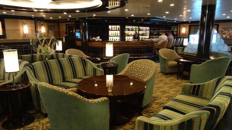 "Not only is there great food venues onboard but there's also lots of venues around to enjoy a complimentary cocktail, glass of wine, beer, soft drink, etc. There's a peek at ""The Bar"", a popular place to hang out before/after dinner."