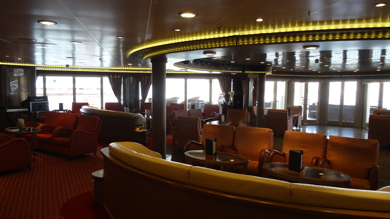 "Or higher up on the ship there's the ""Panorama Lounge"" which comes with great views…"