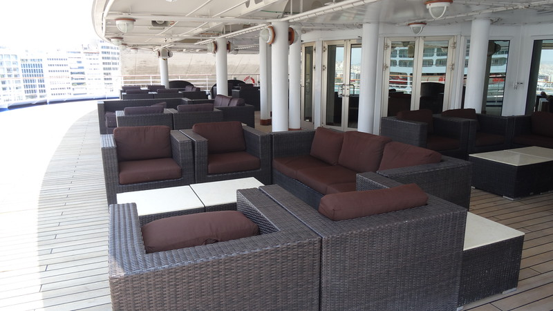 …inside & out! These are just 2 of the many places to enjoy a drink, there's a spot for everyone to enjoy onboard!