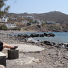 As Patmos isn't a huge place it's an easy one to stroll around if you want to check out local-life to get a feel for how the residents live there. Looks like Nancy found one of their beach areas which was for sure a serene place to enjoy the beautiful waters that surround this tiny Greek Island.