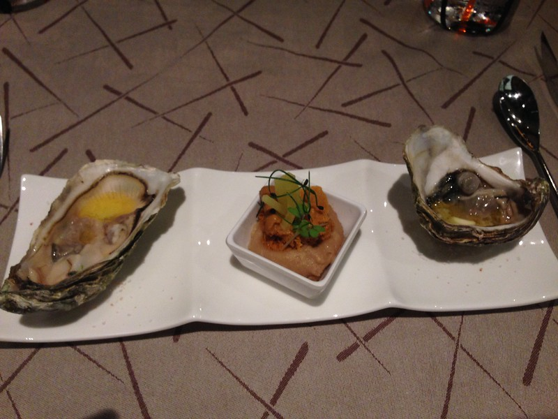 Oysters, etc. So go there hungry to give yourself room to try it all.