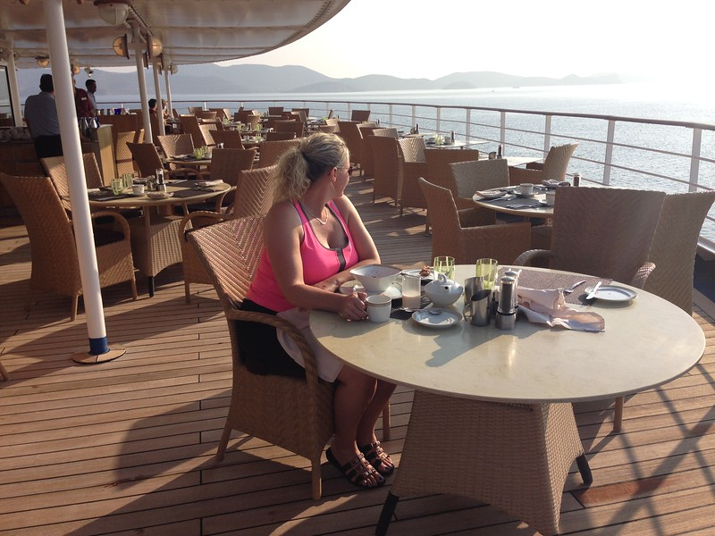 But as you'll see Nancy at breakfast though it's a Buffet with a fabulous view! :-)