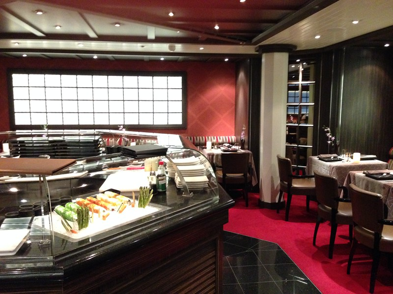 """Another place to eat onboard is the """"Seishin"""" Asian restaurant which is one of only 2 venues onboard that charge a fee… $40 per person."""