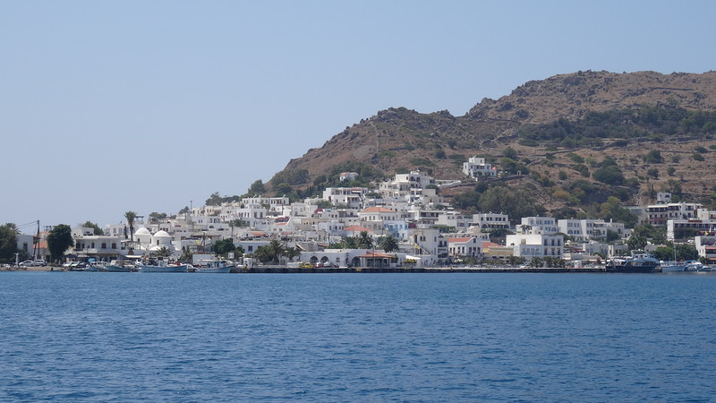 """When visiting Patmos you have to """"Tender"""" (get on a smaller boat from your bigger Cruise ship) to get into town which is for sure one of the highlights of a visit there since the scenery to/from is pretty spectacular!"""