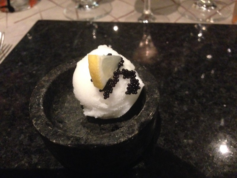 "We had 9 courses at ""Seishin"" including sorbet & caviar…"