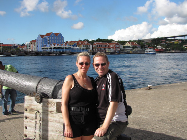 There we are enjoying a super hot & sunny day in Curacao... on December 6th!! Much nicer weather then back in the US or home in Canada during this time of year.