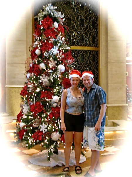 "Today's a ""Sea Day"" so we figured let's show you around the ship... as it's just before Christmas they have her beautifully & festively decorated... Cruising during the Holidays... we love it! :-)"