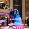 And there's what the actual Champagne waterfall looks like... over 600 glasses there... pretty impressive! :-)
