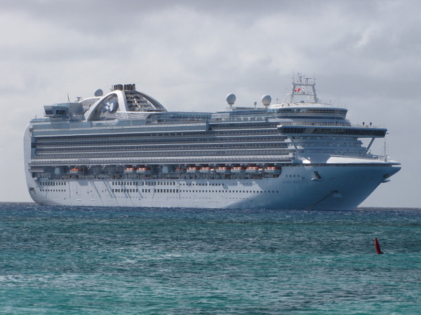 "There's the ""Crown Princess"" where we called ""Home"" for a week while Cruising the Southern Caribbean."