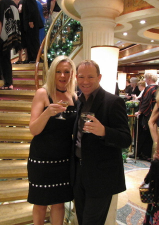 One of our favorite events we enjoy when onboard a Princess Cruise (we've Cruised all the major Cruiselines and they all have their own unique events) is their Champagne waterfall... it's a fun, social event and there's Free champagne so what isn't there to like! :-)
