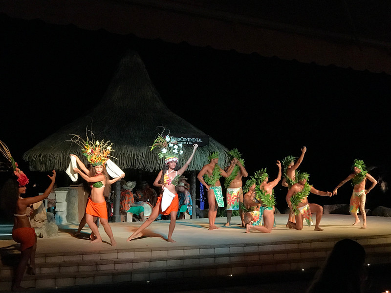 "If you happen to be at the Resort on a Wednesday or Friday evening make sure to eat in the main restaurant so you can experience their very impressive ""Tahitian"" show. <br /> <br /> It's Free of charge, you simply have dinner there during the show in their front & center seats for buffet guests or in the back for ""A-La-Carte"" guests... we did the ""A-La-Carte"" menu and still had great seats from the back of the restaurant so either way works or you can even sit & have a drink at the ""Tiki Bar"" and watch from there if you're not hungry... great show! :-)"