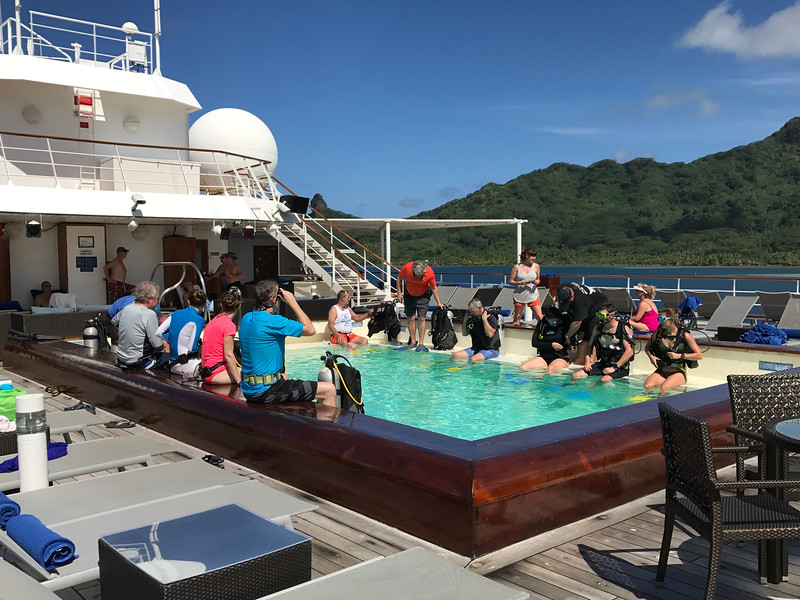 "Although we're not ""Divers"" we've heard Tahiti & French Polynesia offers some of the best in the World... and, as mentioned here <a href=""https://www.pgcruises.com/ms-paul-gauguin/diving"">https://www.pgcruises.com/ms-paul-gauguin/diving</a>, even if you've never Dived before you can get certified onboard as the above guests are doing."