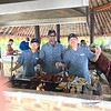 On top of the Free alcoholic & non-alcoholic drinks on the Island at the lively bar there's a sumptuous BBQ served there as well... there's some of Paul Gauguin's awesome staff cooking up some yummy meats for us! :-)