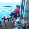 Lunchtime on your Balcony like above is a pretty good time to enjoy room service too... as was Breakfast on our Balcony in Boro Bora one morning which we enjoyed as well! :-)