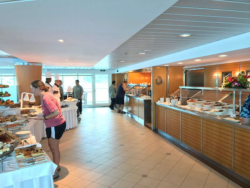 """Alright, back to food... there's a look at the buffet area in the """"La Veranda"""" Restaurant where you can enjoy breakfast & lunch each day."""