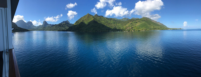 Our final stop was in Moorea where we also spent 2 days and it was one of our favorite stops for sure as the scenery there is pretty spectacular!