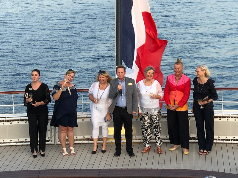 """Alright, before we start going through each port stop we wanted to mention Tauck had SEVEN """"Tauck Directors"""" on our Cruise (they don't call them """"Guides"""" as they're truly much more then that!) which truly enhanced our experience!!<br /> <br /> As we talk about in # 3 here <a href=""""https://www.nancyandshawnpower.com/tauck-river-cruiseline-advantages-over-other-river-cruise-lines/"""">https://www.nancyandshawnpower.com/tauck-river-cruiseline-advantages-over-other-river-cruise-lines/</a> (That's where we talk about why Tauck River Cruises are so highly rated... A LOT of that article pertains to their """"Small Ship"""" Cruises too!) having multiple Tauck Directors around makes your trip so much better as they join your tours, share their experience, their stories, make sure you're having a good time, make sure everything is running smoothly, etc.<br /> <br /> And as they're there IN ADDITION to the local guides who escort us at each place it all simply means MUCH more personal attention for you to get your questions answered, to learn, etc. Which is what you flew 1/2 way around the World to do, right!! :-)"""