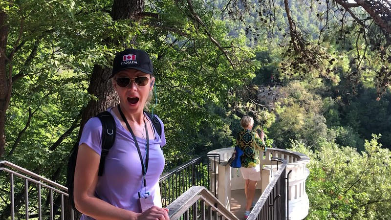 """The highlight of this tour was for sure our """"Nature Walk"""" through the park where we checked out Waterfalls, ponds, rivers, flora, etc.<br /> <br /> It was quite a serene & invigorating setting!<br /> <br /> As you'll see in this video, Nancy definitely enjoyed it there!! :-)"""