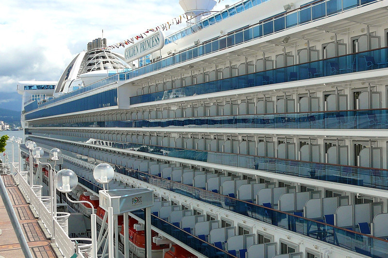 """There's a small taste of the over 700 Balcony staterooms that are onboard the """"Golden""""."""
