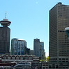 There's a view of some of downtown Vancouver's skyline from our Stateroom.