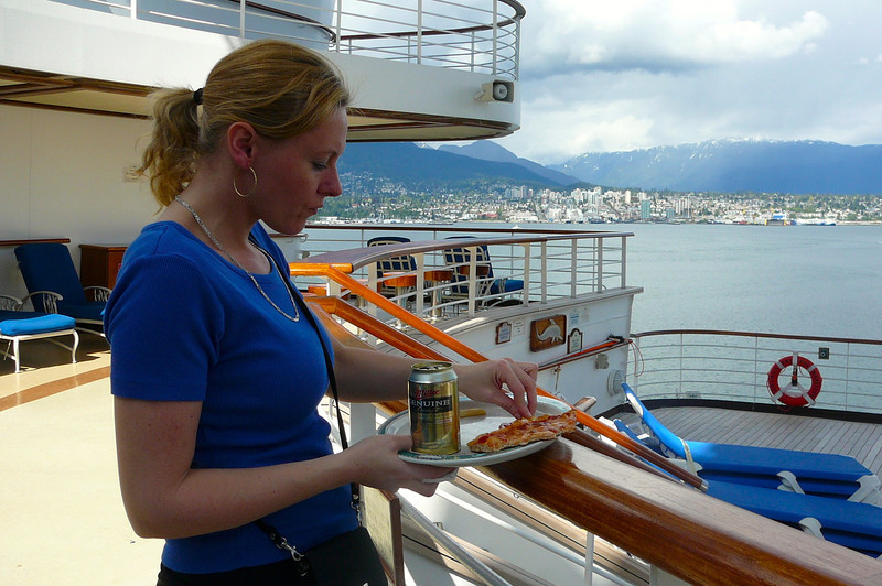 Pizza and Beer... the first 2 things everyone should get a hold of when they board their Cruise! :-)